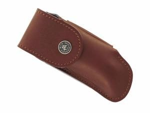 MAX CAPDEBARTHES - ETUI CUIR COUTEAU FORT 12 CM MARRON